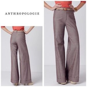 """Anthropologie """"Looking Up"""" wide leg trousers"""